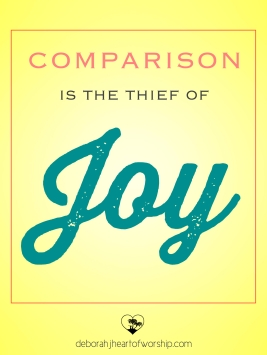 comparison is thief of joy
