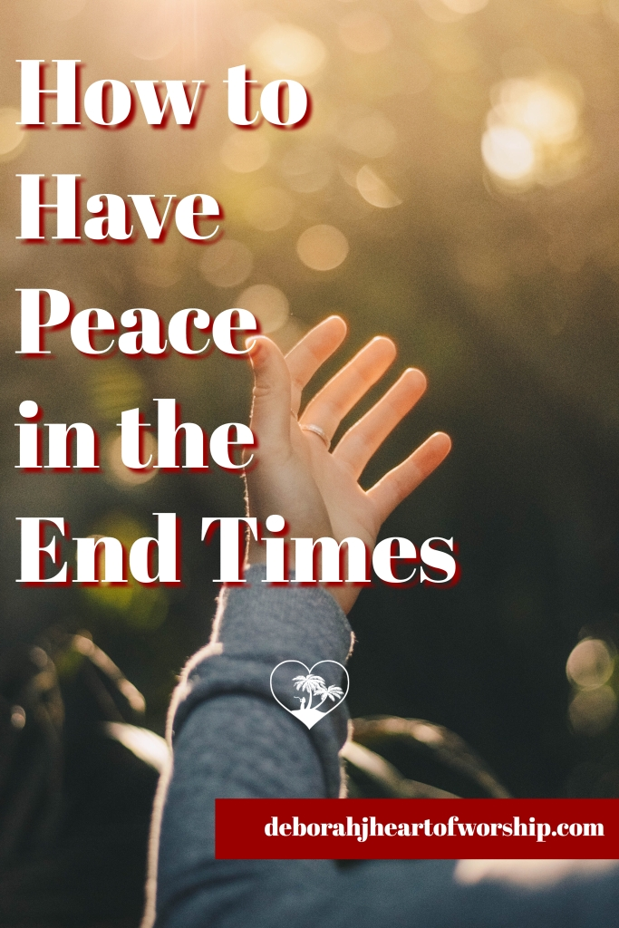 Peace in God, The presence of God, spending time with God, God's Peace